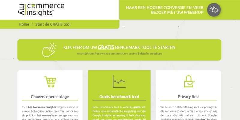 Screenshot My Commerce Insights dashboard